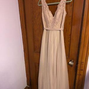 Watters & watters tan dress